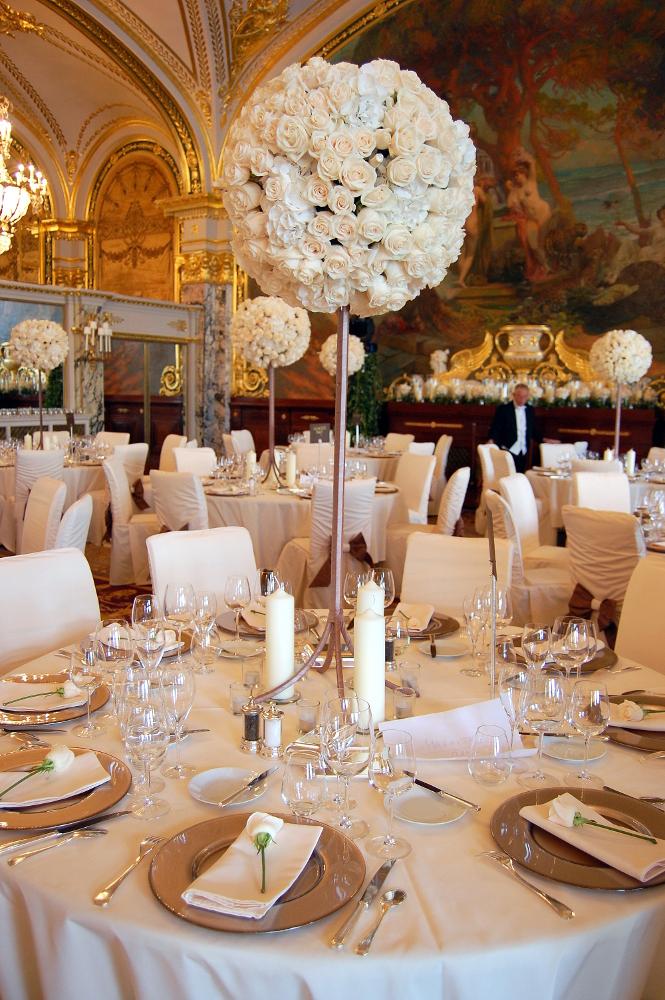 Table Decoration at Hotel De Paris