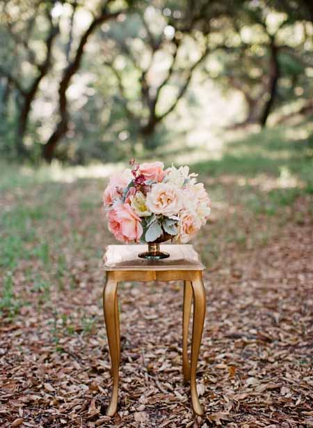 pastel flower centerpiece