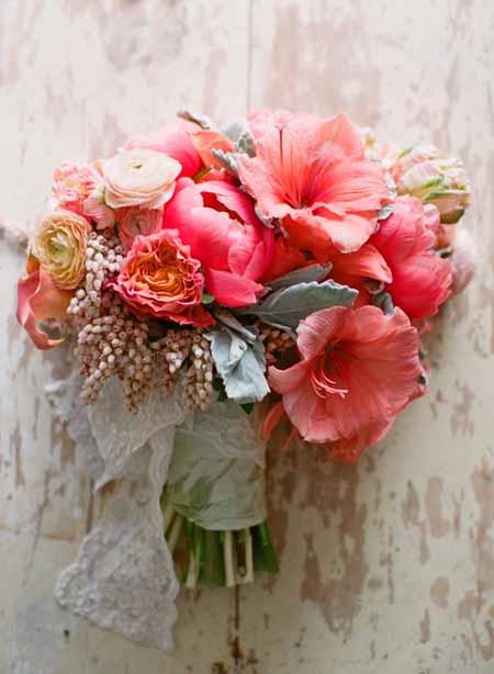 watermelon pink bridal bouquet