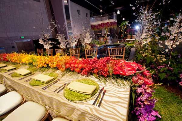Sullivan Owen's table design at Philadelphia Flower Show