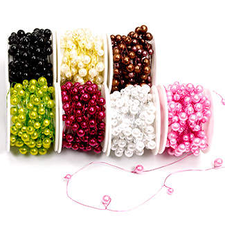 colored beads on wire for florists