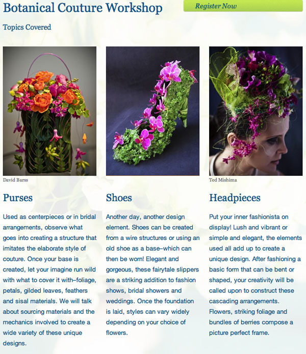 Floral Design Classes Portland Oregon