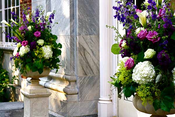 Purple White Green Bouquet