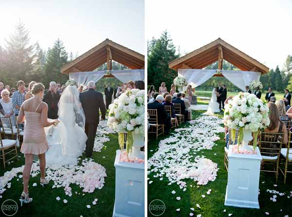 drapes on ceremony arch