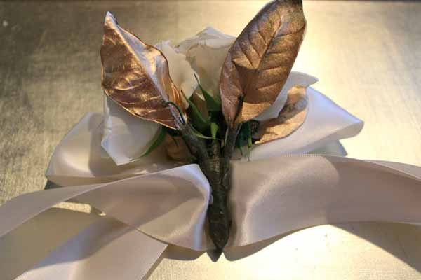 how to glue together a wrist corsage