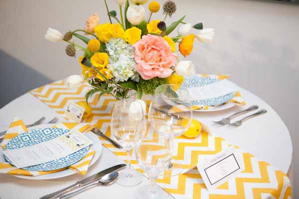 yellow chevron with yellow and white arrangement