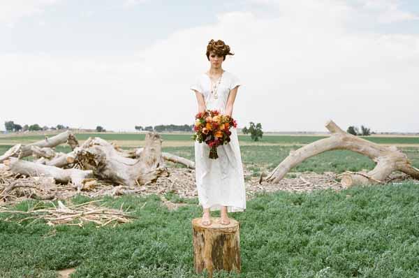 fall color bridal bouquet