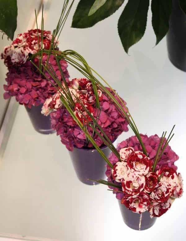 hydrangeas and spray roses