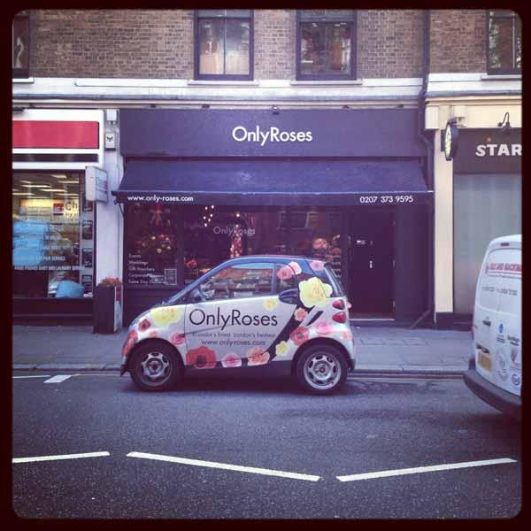flower shop delivery car